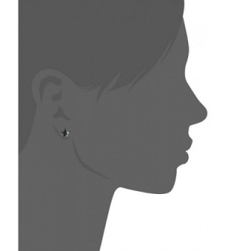 Betsey Johnson Hematite Zirconia Earrings