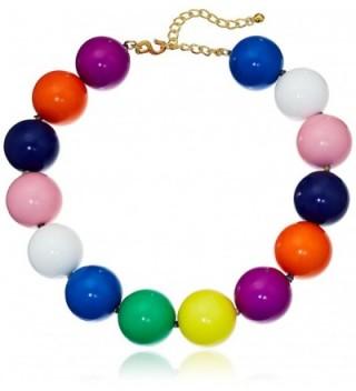 "Kenneth Jay Lane 18"" 30Mm Multi Color Bead Strand Necklace - C312GWQJ7GF"