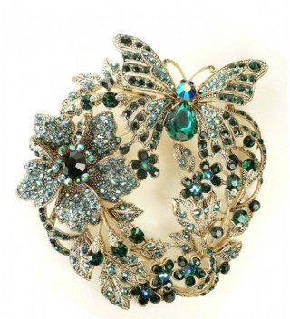 Bejeweled Christmas Butterfly Flower 131 in Women's Brooches & Pins