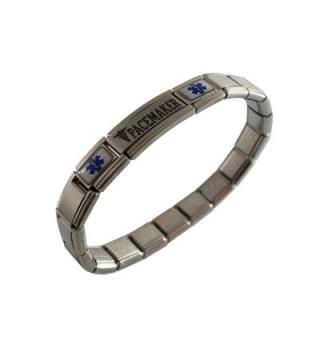 Pacemaker Medical ID Alert Italian Charm Bracelet - CJ11C4UO3KT