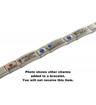 Pacemaker Medical Alert Italian Bracelet in Women's ID Bracelets
