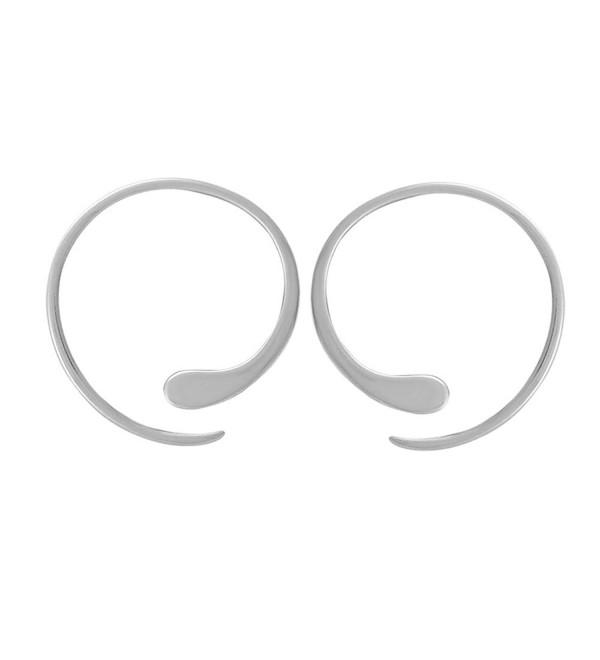 Boma Sterling Silver Pull Through Hoop Earrings C717ysndiru
