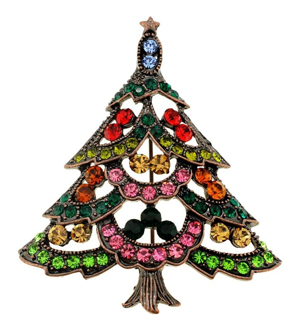 Multi-Color Christmas Tree Pin Brooch - CH115MZUMJT