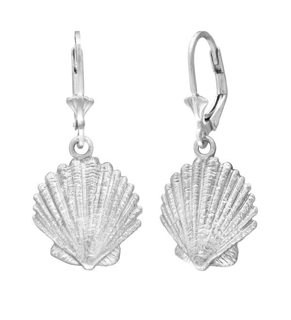 Sterling Silver Seashell Leverback Earrings - CN119FOIFFV