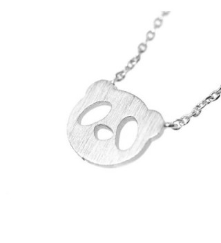 Spinningdaisy Handcrafted Brushed Necklace Silver in Women's Pendants