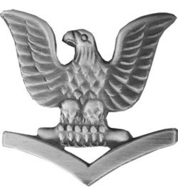 Petty Officer 3rd Class (Left) Lapel Pin or Hat Pin - CM110ALN3R7