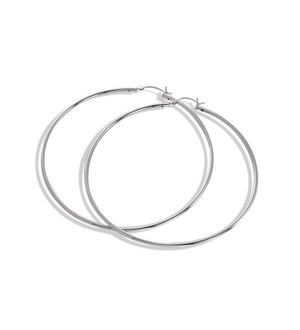 925 Real Sterling Silver 2mm Tube Sleeper Hoop Earrings 12mm - 80mm | Hoops - CN125X748AN