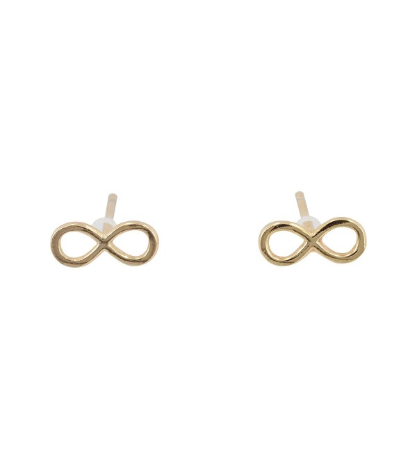 Small Infinity Stud Earrings- 14kt Gold Plated Sterling Silver- Gold Infinity Posts- 6939 - C111M5NCVP9