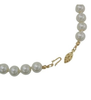 Rosemarie Collections Womens Classic Necklace in Women's Pearl Strand Necklaces