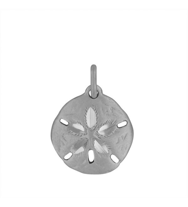 Sterling Silver Sand Dollar Charm Pendant - CV118GMHEXH