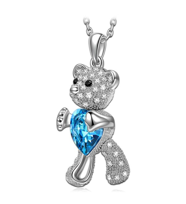 "QIANSE ""The Brave"" Bear Necklace Made with Swarovski Crystals - Give you warmth- strength and courage - C2185N5LGO8"