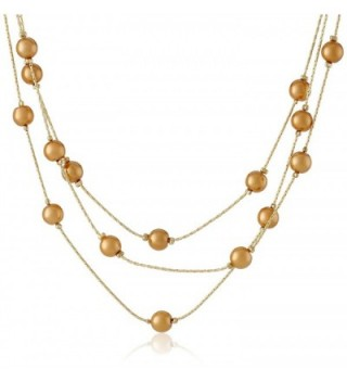 "Signature 1928 ""Collection"" Adjustable Strandage Necklace- 16"" - Gold-Tone/Golden Pearl - CH11D4F16FD"