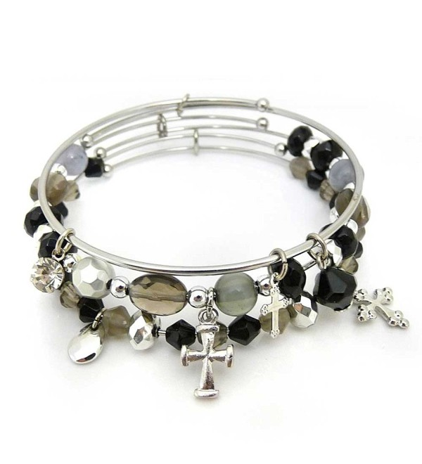 KIS Jewelry Symbology Crosses Bangle Bracelet - CZ1280K8PAJ