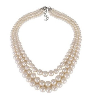 Kalse Simulated Pendant Necklace Strands in Women's Pearl Strand Necklaces