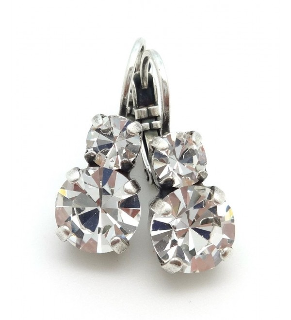 Mariana Swarovski Crystal Silver Earrings Clear with Clear 001001 On A Clear Day - CK12N411RXC