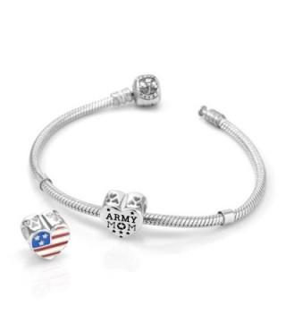 Sterling Silver Enamel American Bracelet