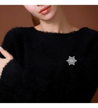 EleQueen Austrian Crystal Snowflake Silver tone