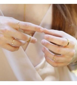 Chevron Midi Ring Gold Silver