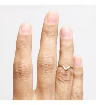 Chevron Midi Ring Gold Silver in Women's Stacking Rings