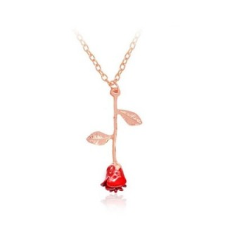 Pendant Necklace Romantic Gardeners necklace - rose gold necklace - C81887CM44T