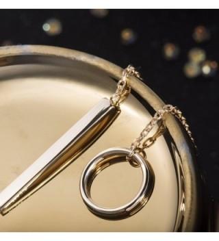 S Leaf Circle Necklace Sterling Vertical