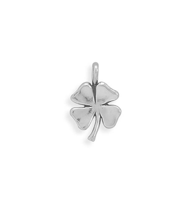 4 Leaf Clover Shamrock Charm Sterling Silver- Made in the USA - CT112WKN9SX
