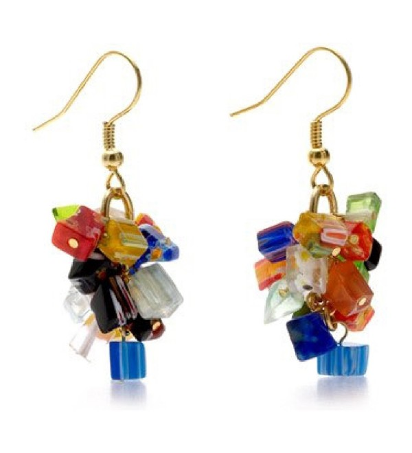 Murano Glass Millefiori Earrings 'Mystique Of Venice' Pricegems Museum Store - C311EY7N5GN