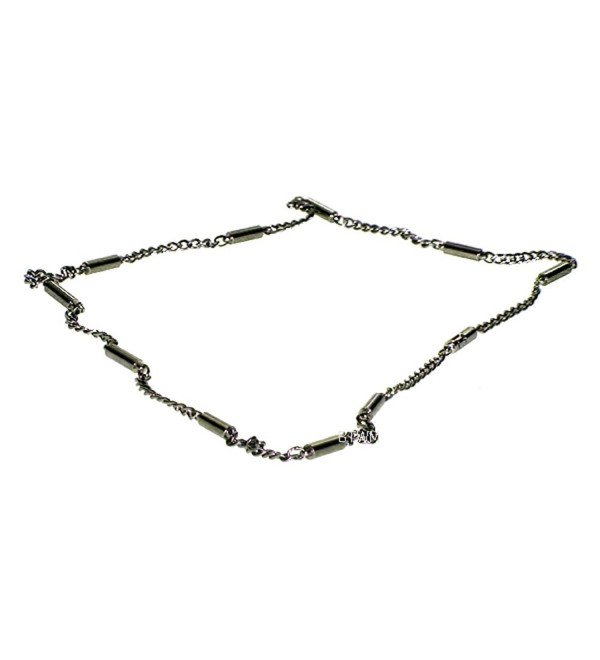 Silvertone Stainless Steel Magnetic Therapy Necklace - C71174H73M7
