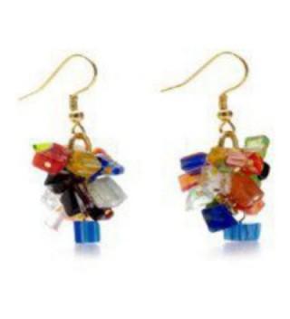 Murano Millefiori Earrings Mystique Pricegems in Women's Drop & Dangle Earrings