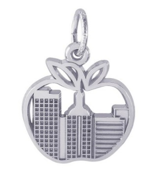 Rembrandt Sterling Silver New York Skyline Charm (15 x 14.5 mm) - C312ITKD9UH