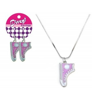 Zorbitz Ditzy Earring/Necklace Set- Shoe - CZ11GOK1JGV
