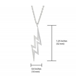 Altitude Boutique Brushed Lightning Necklace in Women's Pendants