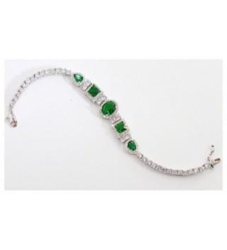 Luxury Geniune bracelet Certified Pltinum - Green - CP180NIEECA