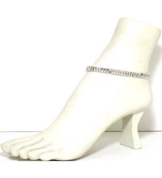 AnsonsImages Stretch Bracelet Borealis Rhinestones in Women's Anklets