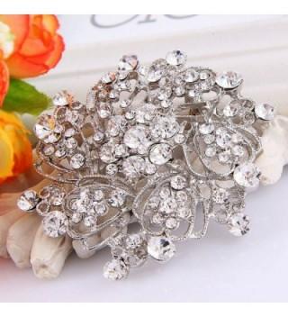 EVER FAITH Austrian Crystal Silver Tone in Women's Brooches & Pins
