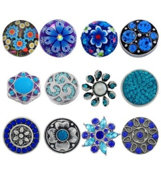 Souarts Mixed Snap Button Jewelry Charms - Blue - CA1267FH3VR