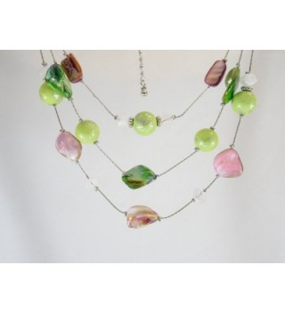 Necklace Earring Coral Green Colored in Women's Jewelry Sets