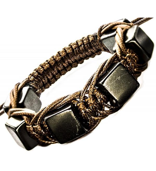 Shungite Bracelet Cubic Beads - Brown - CP128158UNB
