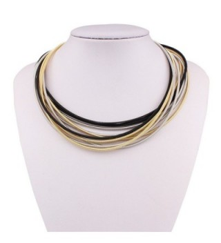 Chunky Choker Collar Strands Necklace in Women's Chain Necklaces
