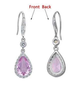 EleQueen Sterling Zirconia Teardrop Earrings in Women's Drop & Dangle Earrings