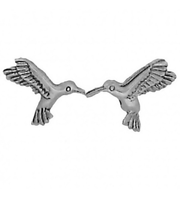 Corinna-Maria 925 Sterling Silver Hummingbird Earrings Studs Tiny Mini Stainless Steel Posts and Backs - C7115W6W3PT