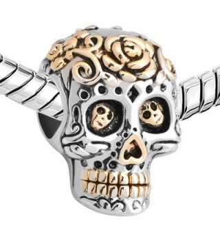 LuckyJewelry Plated Silver Muertos Bracelet