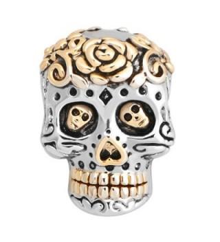 LuckyJewelry Plated Silver Muertos Bracelet in Women's Charms & Charm Bracelets