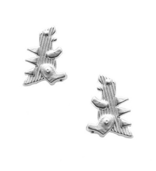 chelseachicNYC Matte Finish T Rex Dinosaur Earrings - C612ET46GMF