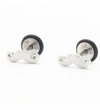 Chelsea Jewelry Basic Collections Moustache shaped Stud screw-back Earrings - CM11A1V0KYP
