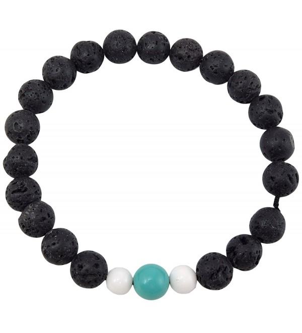 Volcanic natural lava yoga meditation healing wrist mala bracelet CL-4 - CB185UYM4OE