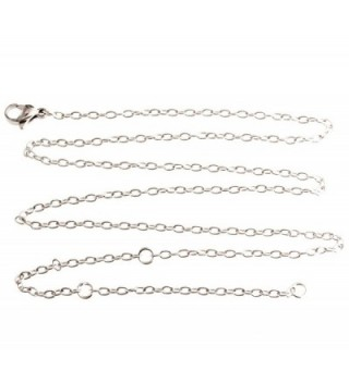"R.h. Jewelry Stainless Steel Chain Necklace Adjustable Length 20"" - CB12133C1K1"