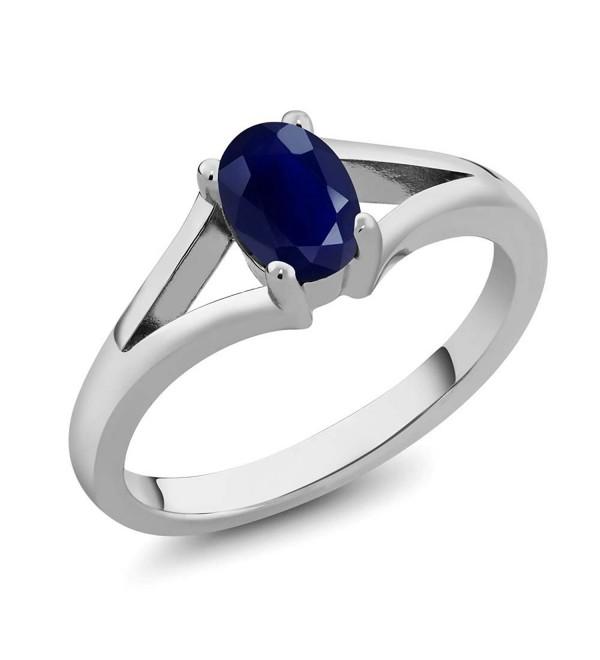 Sapphire Gemstone Birthstone Sterling Solitaire - CU1190QGGWD