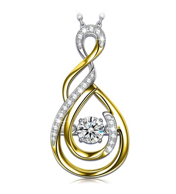 Necklace Sterling necklaces Swarovski Necklaces - CV18028GKN3