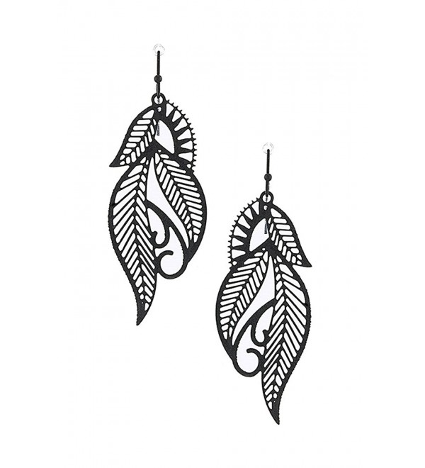 Filigree Design Delicate Metal Laser Cut Out Drop & Dangle Earrings - CB12DO78I3N